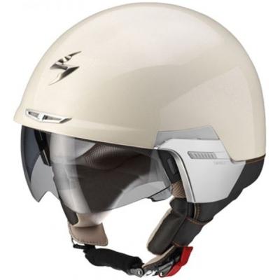 Prilba Scorpion EXO-100 Padova II béžová, na motorku