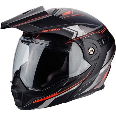 Prilba Scorpion ADX-1 Anima čierno-červená matná, na motorku