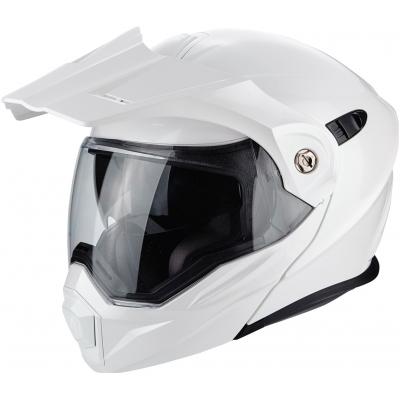 Prilba Scorpion ADX-1 Solid biela, na motorku