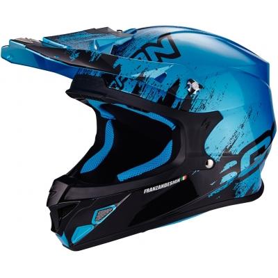 Prilba Scorpion VX-21 Mudirt, čierno-modrá