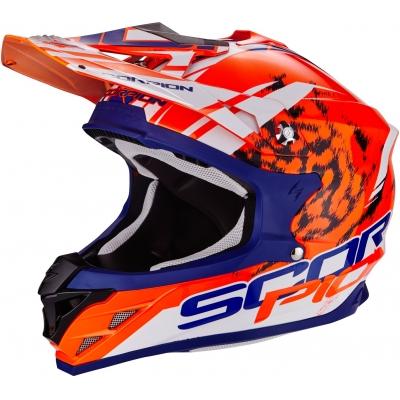 c0b648c9a3b0e Prilba Scorpion VX-15 EVO Kitsune oranžovo-modro-biela, na motorku