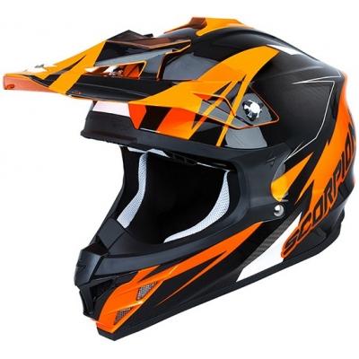 Prilba Scorpion VX-15 EVO Krush oranžová, na motorku