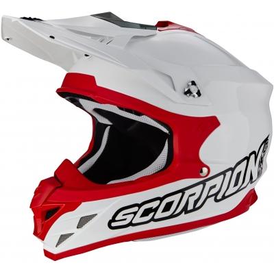 Prilba Scorpion VX-15 EVO Solid bielo-červená, na motorku