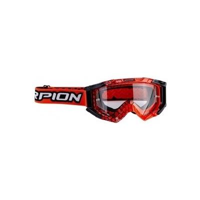 Okuliare Scorpion MX čierno-neónovočervené, na motorku