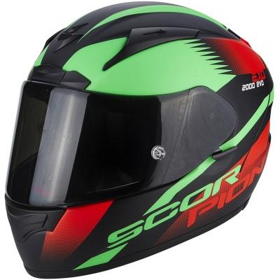 Prilba Scorpion EXO-2000 EVO AIR Volcano čierno-zeleno-červená fluo, na motorku