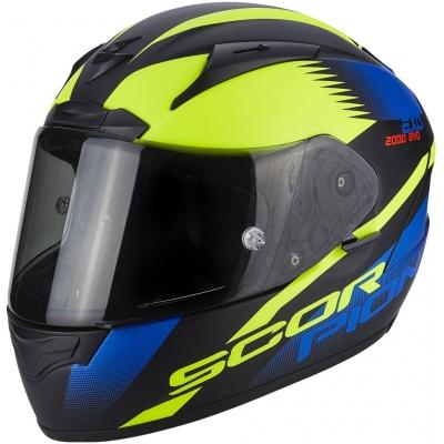 Prilba Scorpion EXO-2000 EVO AIR Volcano čierno-žlto-modrá fluo, na motorku
