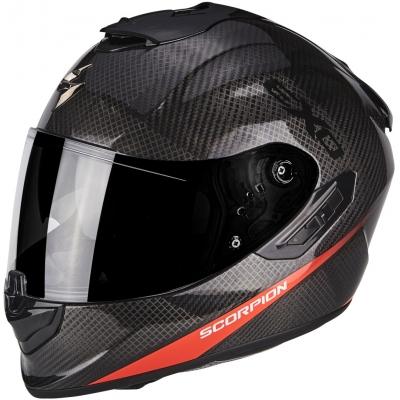 Prilba Scorpion EXO-1400 AIR Carbon pure čierno-červená, na motorku