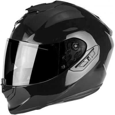 Prilba Scorpion EXO-1400 AIR Solid čierna lesklá, na motorku