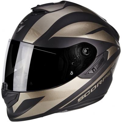 Prilba Scorpion EXO-1400 AIR Freeway II sivo-čierna, na motorku