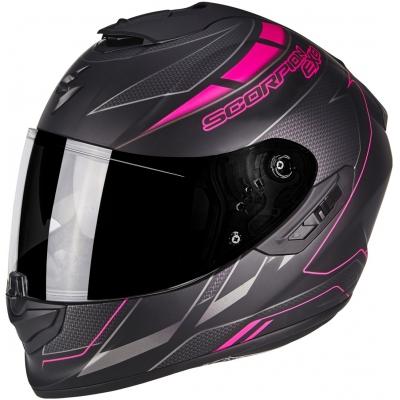 Prilba Scorpion EXO-1400 AIR Cup čierno-ružová, na motorku
