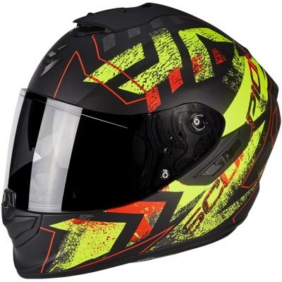 Prilba Scorpion EXO-1400 AIR Picta čierno-červeno-žltá fluo, na motorku