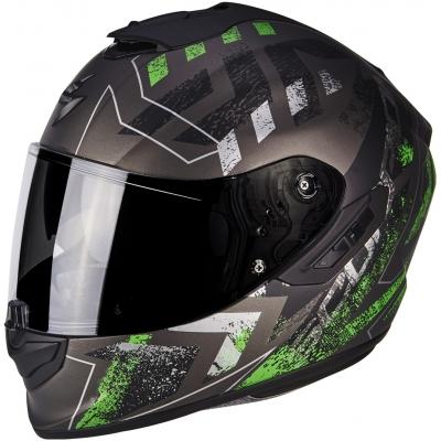 Prilba Scorpion EXO-1400 AIR Picta čierno-zelená, na motorku