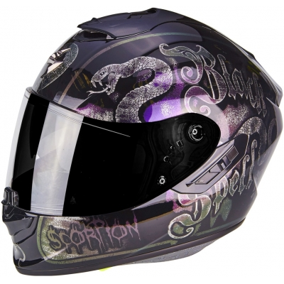 Prilba Scorpion EXO-1400 AIR Blackspell chameleón čiena, na motorku