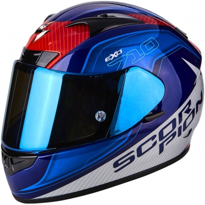 Prilba Scorpion EXO-710 AIR Mugello modro-červená, na motorku