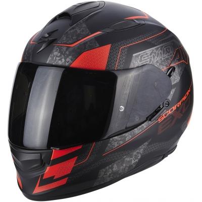Prilba Scorpion EXO-510 AIR Galva čierno-červená fluo, na motorku