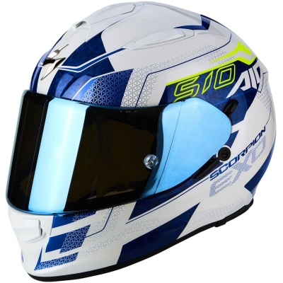 Prilba Scorpion EXO-510 AIR Galva bielo-modrá, na motorku
