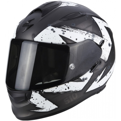 Prilba Scorpion EXO-510 AIR Marcus čierno-biela, na motorku
