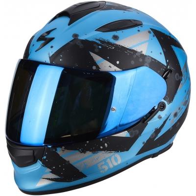 Prilba Scorpion EXO-510 AIR Marcus čierno-modrá, na motorku
