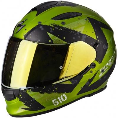 Prilba Scorpion EXO-510 AIR Marcus čierno-zelená, na motorku