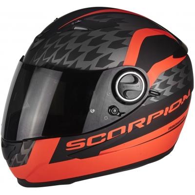 Prilba Scorpion EXO-490 Genesi čierno-červená fluo, na motorku