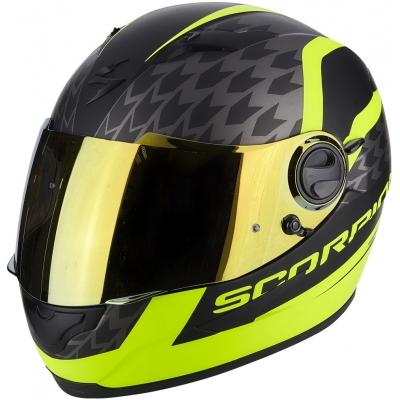 Prilba Scorpion EXO-490 Genesi čierno-žltá fluo, na motorku