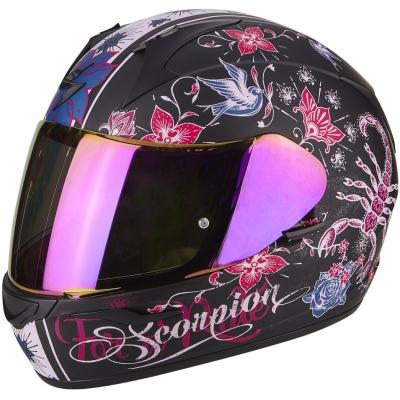 Prilba Scorpion EXO-390 Chica čierno-ružová, na motorku