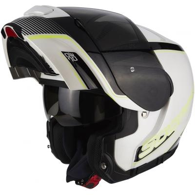 Prilba Scorpion EXO-3000 AIR Stroll čierno-strieborno-žltá fluo, na motorku