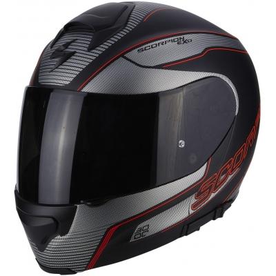 Prilba Scorpion EXO-3000 AIR Stroll čierno-strieborn-červená, na motorku