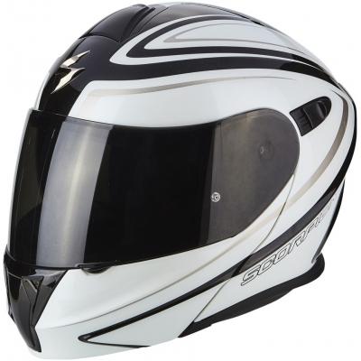 Prilba Scorpion EXO-920 Ritzy bielo-čierna, na motorku