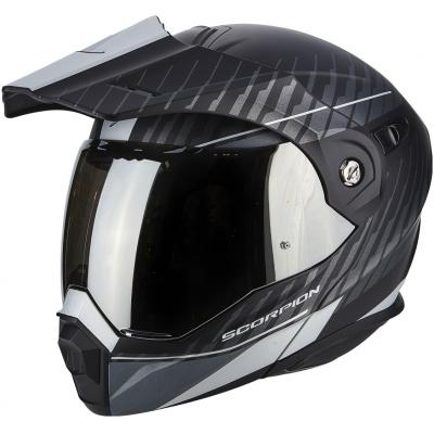 Prilba Scorpion ADX-1 Dual čierno-strieborná, na motorku