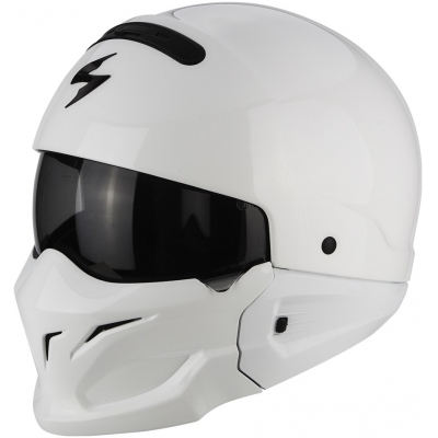 Prilba Scorpion EXO-Combat Solid biela, na motorku
