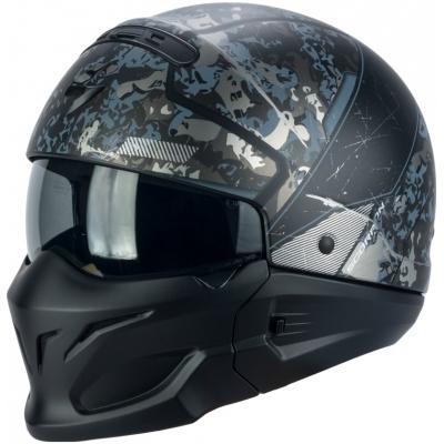 Prilba Scorpion EXO-Combat Opex čierno-strieborná, na motorku