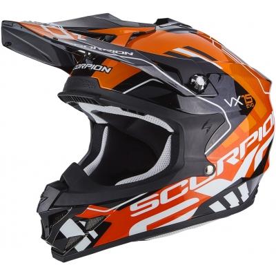 Prilba Scorpion VX-15 EVO AIR Argo čierno-oranžová, na motorku