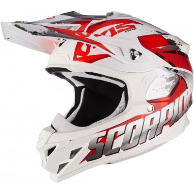 Prilba Scorpion VX-15 EVO AIR Defender bielo-červená, na motorku