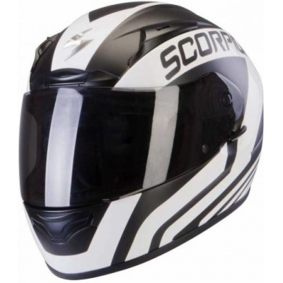 Prilba Scorpion EXO-2000 EVO AIR Poleman čierno-biela, na motorku
