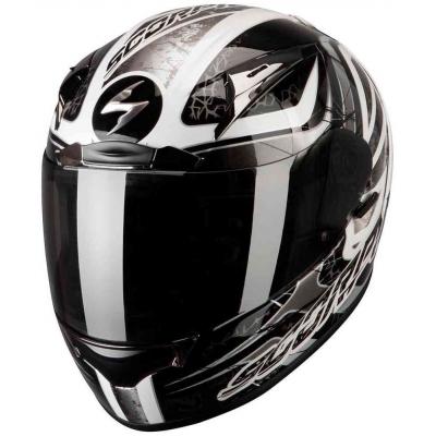 Prilba Scorpion EXO-2000 EVO AIR Shifter čierno-biela, na motorku