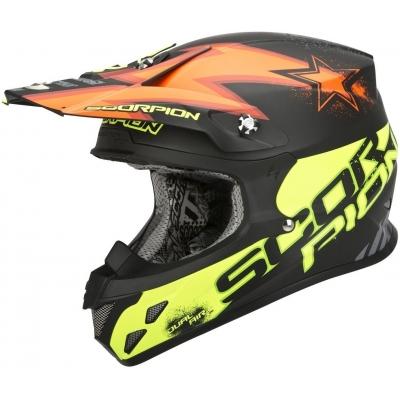 Prilba Scorpion VX-20 AIR Magnus žlto-oranžová fluo, na motorku