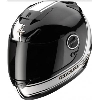 Prilba Scorpion EXO-750 Air Vintage čierno biela, na motorku