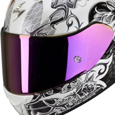 Zrkadlové plexi ružové pre Scorpion EXO 490/500/1000
