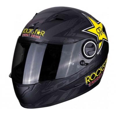 Prilba Scorpion EXO-490 Rockstar čierno-žltá, na motorku