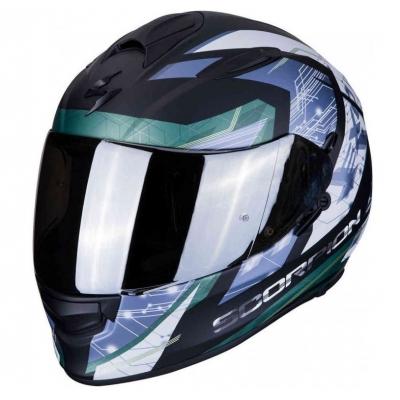 Prilba Scorpion EXO-510 Clarus čierno-strieborná, na motorku