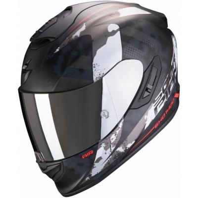 Prilba SCORPION EXO-1400 AIR Sylex, matná čierno-strieborno-červená