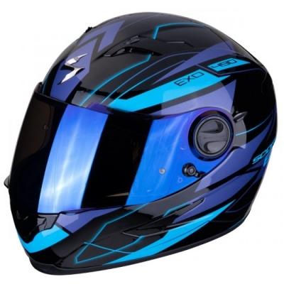 Prilba SCORPION EXO-490 Nova, čierno-modrá