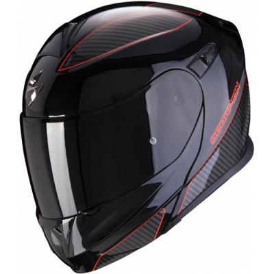 Prilba Scorpion EXO-920 Flux 2020, metalická čierno-červená