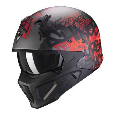 Prilba Scorpion COVERT-X Wall 2020,matná temná strieborno-červená
