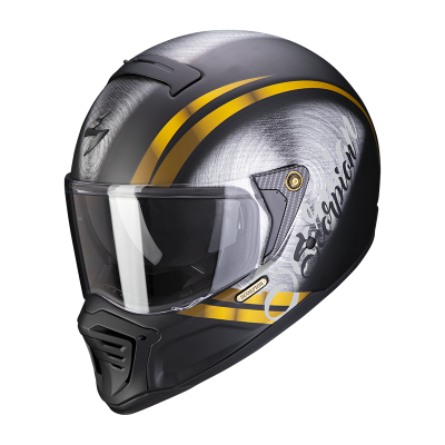Prilba Scorpion EXO-HX1 Ohno 2021, matná čierno-zlatá