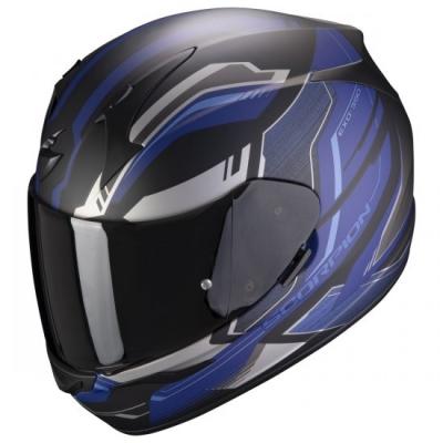 Prilba Scorpion EXO-390 Boost 21, matná čierno-strieborno-modrá