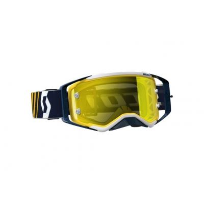 Okuliare Scott Prospect modro-biele, zrkadlové sklo žlté