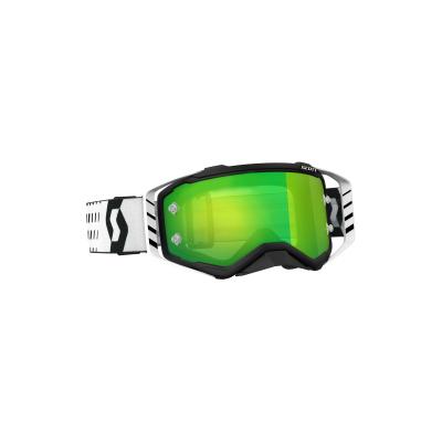 Okuliare SCOTT Prospect čierno-biele, zelené zrkalové sklo