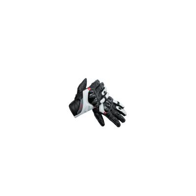 Kožené rukavice SECA Twister II čierno-biele, na motorku